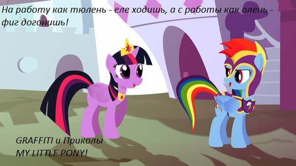 Graffiti и приколы my little pony c